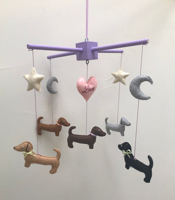 Dachshund Mobile - Personalized - Baby Mobile