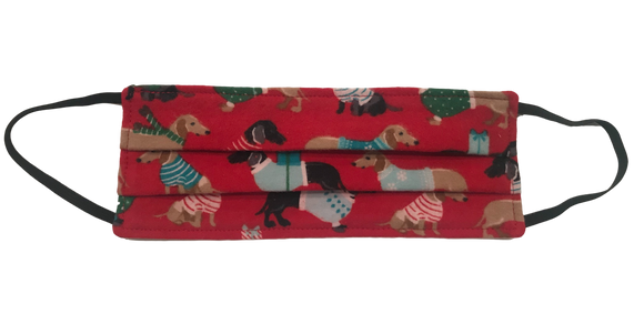 Limited Edition Holiday Weenies Washable/Reusable Face Mask