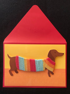 Dachshund Sweater Birthday Card