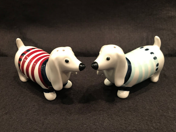 Ceramic Dachshund Salt & Pepper Shakers