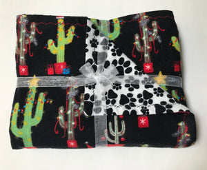 Christmas Cactus Double Layer Reversible Doggy Dream Blanket
