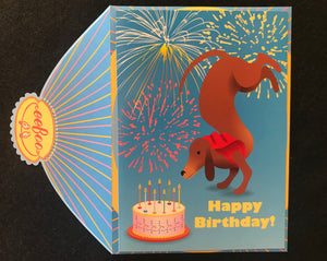 Handstand Birthday Card