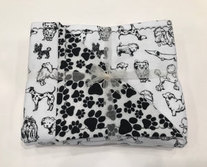 Black & White Multi-Dogs Doggy Dream Blanket (Including Dachshunds!)
