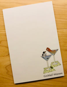 Cocktail Wieners Note Pads