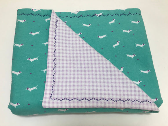 Lavender Mint Tiny Dox Double Layer Reversible Doggy Dream Blanket