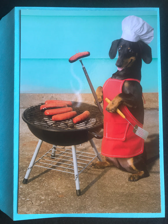 Wiener Roast Congratulations Card