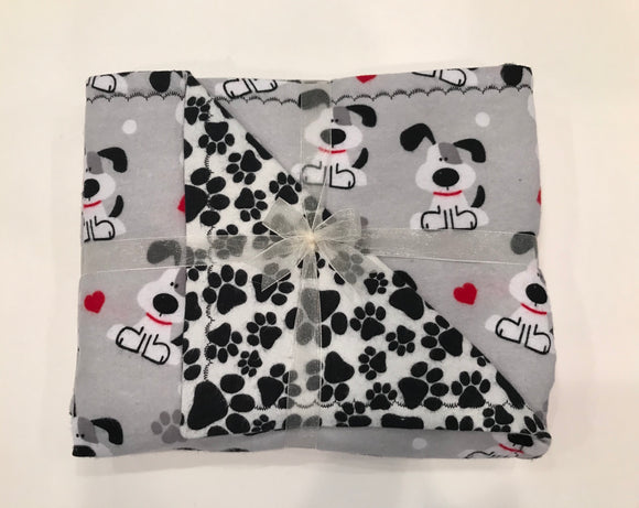 I Woof You Double Layer Reversible Doggy Dream Blanket