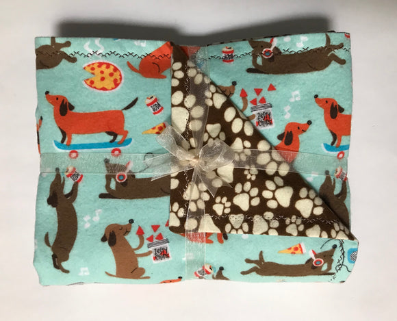 The 9 to 5 Double Layer Reversible Doggy Dream Blanket