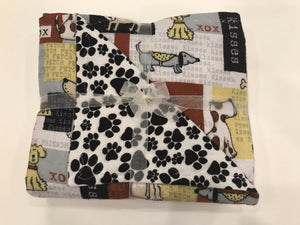 Yellow & Gray Multi-Dog Double Layer Reversible Doggy Dream Blanket