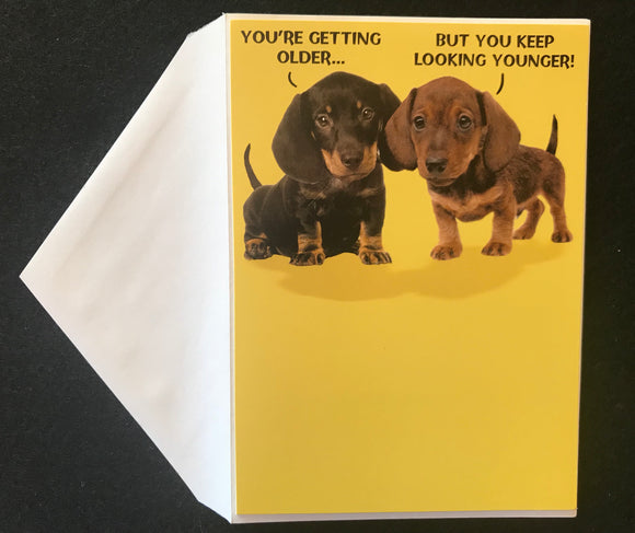 Pair-A-Dachs Birthday Card