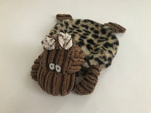 Crinkle & Squeak Corduroy Moose Dog Toy