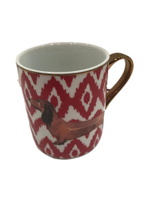 Red Dachshund Coffee Mug