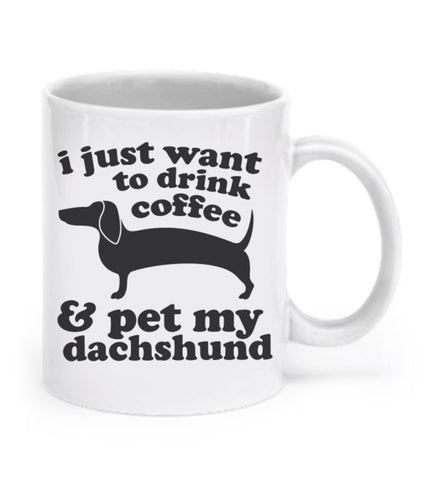 Pet My Dachshund Coffee Mug
