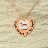 Personalized Memorial Dachshund Necklace