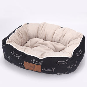 Dachshund Design Dog Bed - Super Puff
