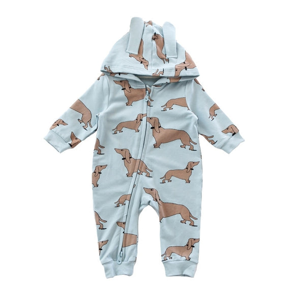 Hooded Dachshund Romper