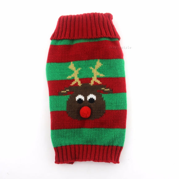 Red & Green Reindeer Christmas Sweater