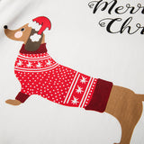 Women's Dachshund Santa Dog 2 Piece PJ Set