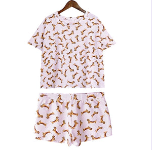 Lots of Tiny Dachshunds Short PJ Set