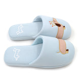 Dachshund Slippers - Blue