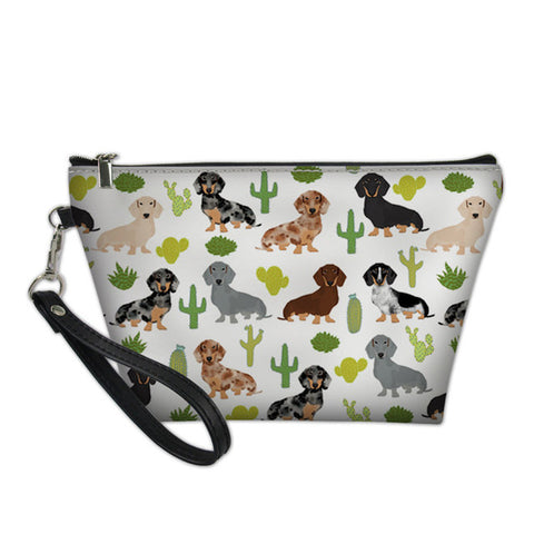 Dachshund Design Makeup Bag