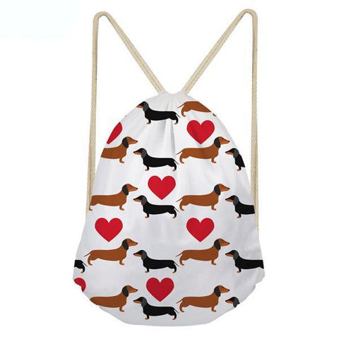 Dachshund Design Beach Bag