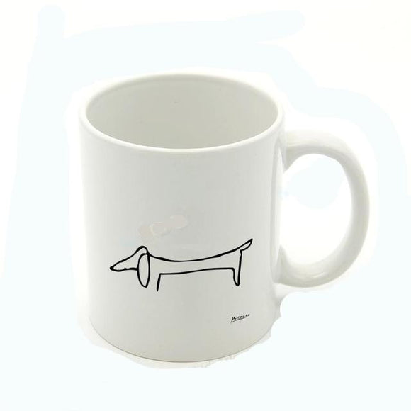 Picasso Drawing Dachshund Coffee Mug