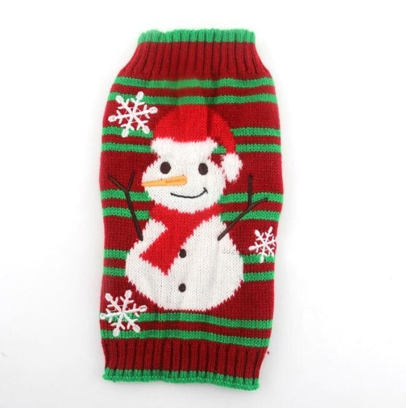 Snowman Christmas Dog Sweater