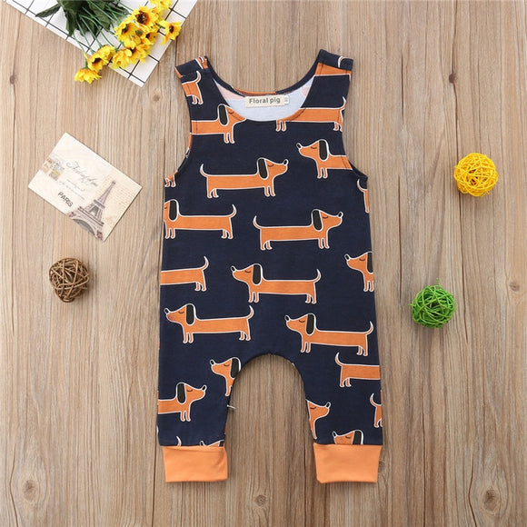 Sleeveless Wiener Dog Romper