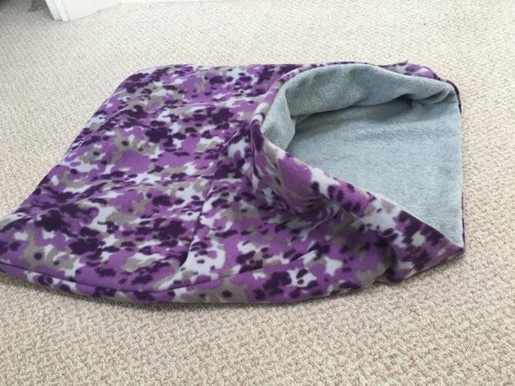 Purple Camouflage Grey Fleece Limited Edition Weenie Warmer