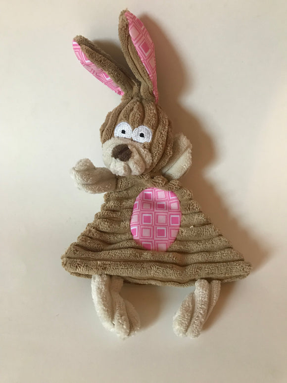 Crinkle & Squeak Corduroy Easter Bunny Dog Toy