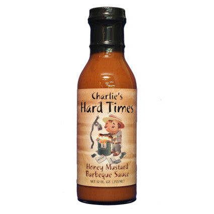 Charlies Hard Times Honey Mustard BBQ Sauce, 12 oz.