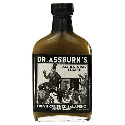 Dr Assburns Fresh Crushed Jalapeno Hot Sauce, 5.7 oz.