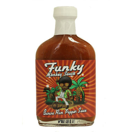 Funky Monkey Banana Rum Pepper Sauce, 5.7 oz.