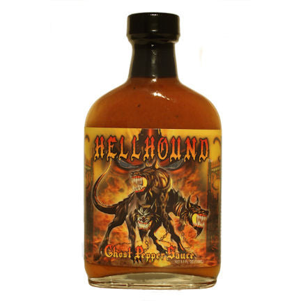 Hellhound Ghost Carribean Mustard Hot Sauce, 5.7 oz