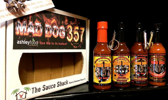 Mad Dog 357 4 Pack Hot Sauce Gift Pack.