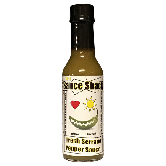 Sauce Shack's Fresh Serrano Pepper Sauce, 5 fl oz.