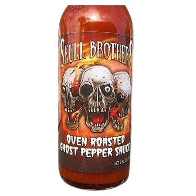 Skull Brother's Oven Roasted Ghost Pepper Sauce, 5 oz.