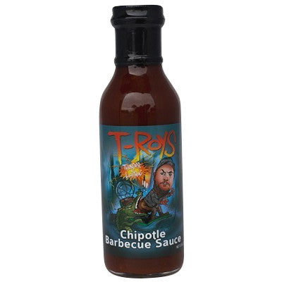 T Roys Ass Bitin Chipotle Molasses BBQ Sauce, 12 oz.
