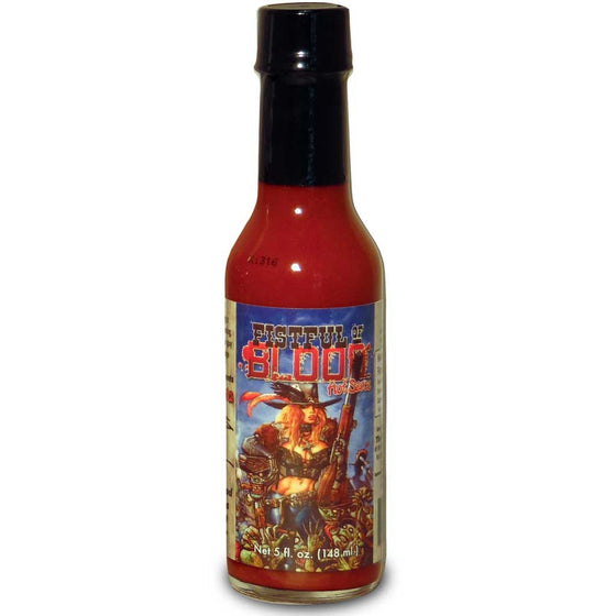 "Kevin Eastman's ""Fistful of Blood"" Atomic Louisiana Hot Sauce, 5 oz."