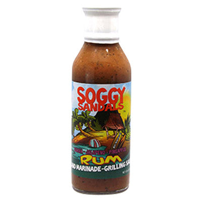 Soggy Sandals Guava, Jalapeno, Pineapple Rum Marinade & Grilling Sauce, 12 oz.