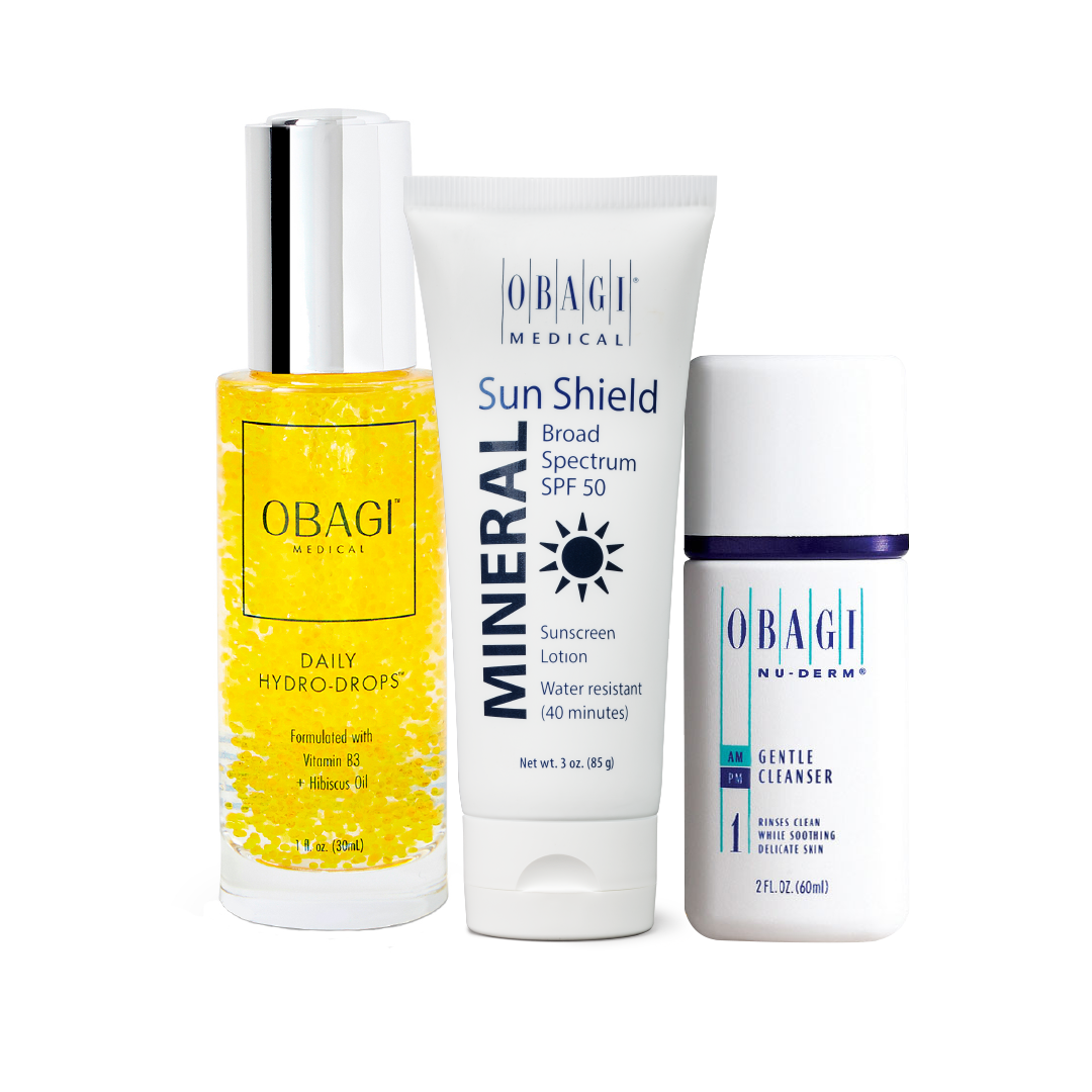 Kit Hidratación Profunda (Hydro Drops + Cleanser + Sun Shield)