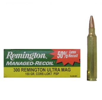 Balles MANAGED RECOIL cal.300 REM ULTRA MAG