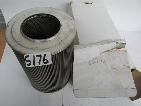 "2 AIR FILTER CARTRIDGES - ALL METAL - 6268-03  - 10""Lx6 1/2"" OD x 3 1/2"" ID- NEW"