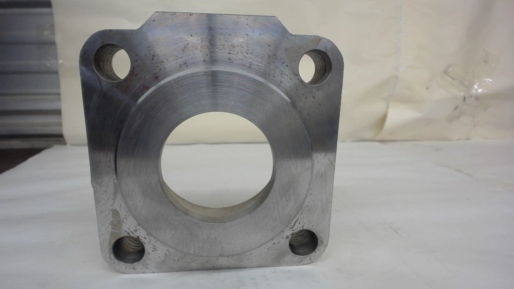 "CYLINDER END BLOCK, 6"" SQUARE X 1.60"" THICK"