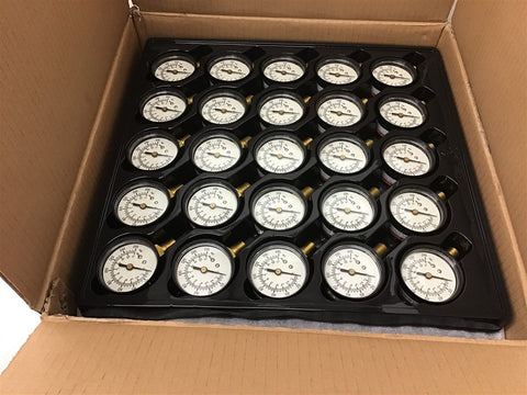 "0-160 PSI Pressure Gauge 1/4"" Brass NPT Male Port 2"" Face 125 gauges"
