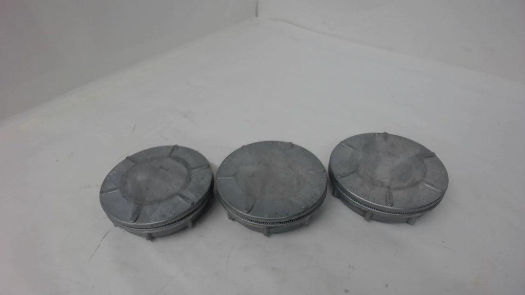 "Lot Of 3, Scru-Tite, Cap Offs, With Rubber Seal, Fits 3"" Opening"