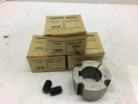 1210 25 MM Bore Taper Bushing Lot of 3