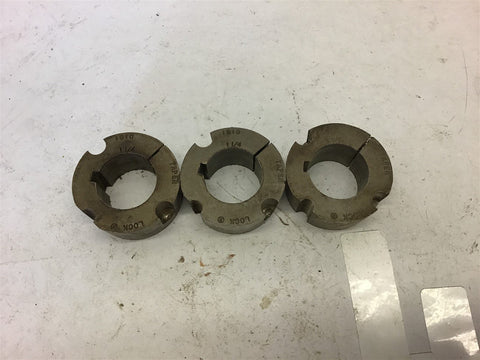 "1610 Taper-Lock Bushing 1 1/4"" Bore Lot of 3"