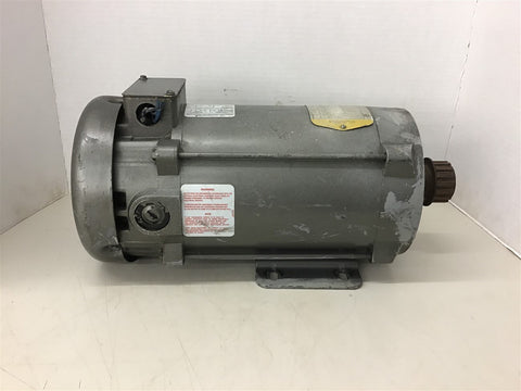 Baldor CD5318 1 HP DC Motor 180 Arm Volt 200/100 Field Volt 1750 SH Wound 56C